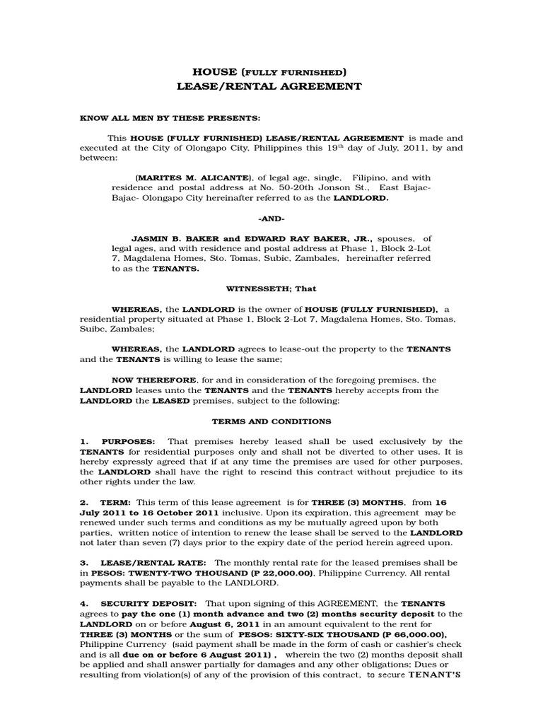 House rental agreement lease leasehold estate platinumwayz