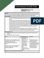 teacher professional growth plan psiii pdf