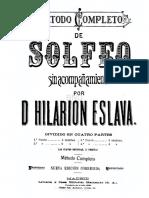 Metodo completo de solfeo - Hilarion Eslava.pdf