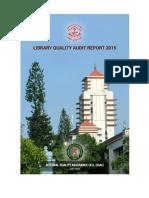 Kerala University Library Audit Report 2015