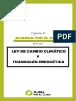 Propuesta de Alianza por el Clima para una ley de Cambio Climático