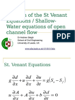 Solution of the St Venant Equations (Part 2)