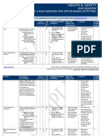 Division OHS Risk Register Example Office