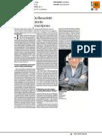 Addio Paolo De Benedetti, amico sapiente che non avrai mai riposo - La Repubblica del 12 dicembre 2016
