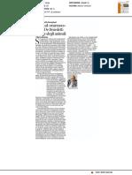 """Addio al """"marrano"""" Paolo De Benedetti, teologo degli animali - Il Corriere della Sera del 12 dicembre 2016"""