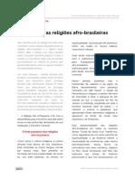 o Budismo e as Religioes Afro Brasileiras