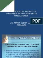 Intervencion Del Tecnico de Enfermeria en Procedimientos Ambulatorios