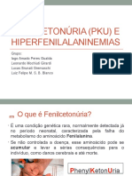 Fenilcetonúria PKU e Hiperfenilalaninemias