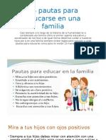 15 Pautas Para Educarse en Una Familia