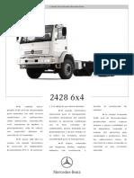Caminhão Plataforma Mercedes-Benz 2428 T6x4 - Ficha Técnica