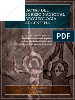 Actas Del XIX Congreso Nacional de Arqueologia Argentina - Tucuman 2016