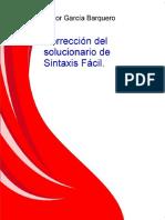 Correccion Del Solucionario de Sintaxis Facil