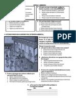 Evaluación III Ciclo Ciencia y Ambiente