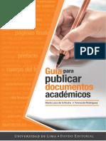GUIA para publicar documentos académicos