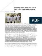 Nano Tuna Fish Bone Gelatin Halal Quality
