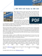 SBI Will Sell Stake in SBI Life