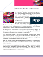Reforms Make Textile Sector Attractive for Investments