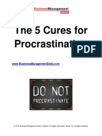 The 5 Cures for Procrastination.pdf