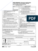 Canada Passport Form Pptc054