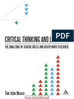 Critical Thinking and Language the Challenge of Generic Skills and Disciplinary Discourses