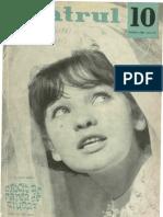 Revista Teatrul, nr. 10, anul IX ,octombrie 1964