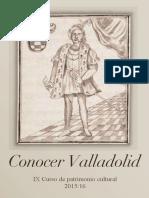 Conocer Valladolid. Curso de Patrimonio Cultural 2015-6