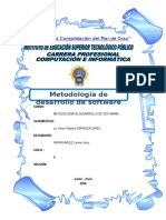 Trabajo de Investigacion de Metodologia de Desarrollo de Software - Lennie