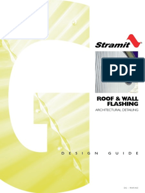 Roof Wall Flashing Architectural Detailing Design Guide