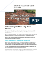 How to Remove Stains of Clay Paved Surfaces