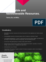 renewable and  nonrenewable resouces