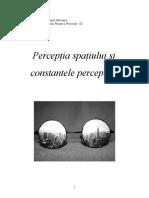 Perceptia spațiului și constantele perceptive