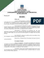 Decisão ARQUIVAMENTO Procedimento Administrativo SERVENTIA Leitura Obrigatória Malote Digital