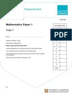 Primary Progression Test - Stage 3 Math Paper 1.pdf