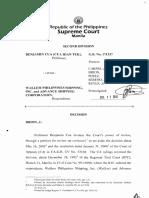 72) Benjamin Cua v. Wallem Phil. Shipping Inc (Full Text).pdf