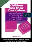 Children and Their Curriculum
