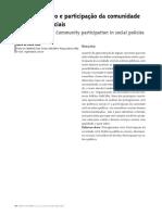 TEXTO 8 - Gohn, R. (2004). Empoderamento e Participação Da Comunidade Em Políticas Sociais. Saúde e Sociedade, 13(2).