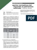 Impuesto Al Patrimonio Vehicular 2