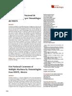 Consenso de Hematólogos sobre Mieloma múltiple