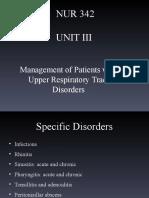 UNIT III Upper Respiratory Disorders Spring 2014