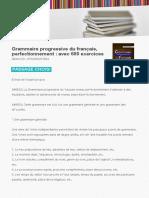 9782090353594 Grammaire Progressive Du Francais Perfectionnement Avec 600 Exercices