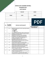 Audit Cheklis Prodi S1-2015