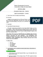 2010-06-22 Council Regular Agenda