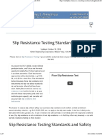 Floor Slip Resistance Testing Standards and Methods 2016