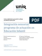 Integración Sensorial, Programa de Actuación en Educación Infantil