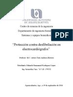 Protección vs Desfibrilación en ECG's