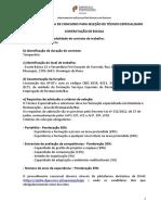 Aviso de Abertura - CE - Técnico Especializado RESTAURAÇÃO