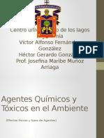 Agentes Químicos y Tóxicos en El Ambiente