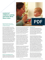 Dodds Baby-led weaning is associated with less parental control of children¹s eating and lower BMI p14-15 Mar13
