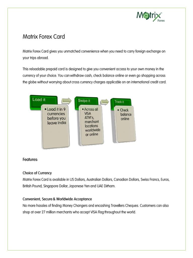 Matrix forex card balance angola china investment funds