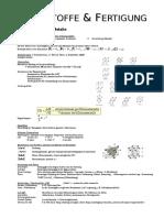 Werkstoffe -  Formelsammlung Kristallaufbau der Metalle und Legierungskunde.doc